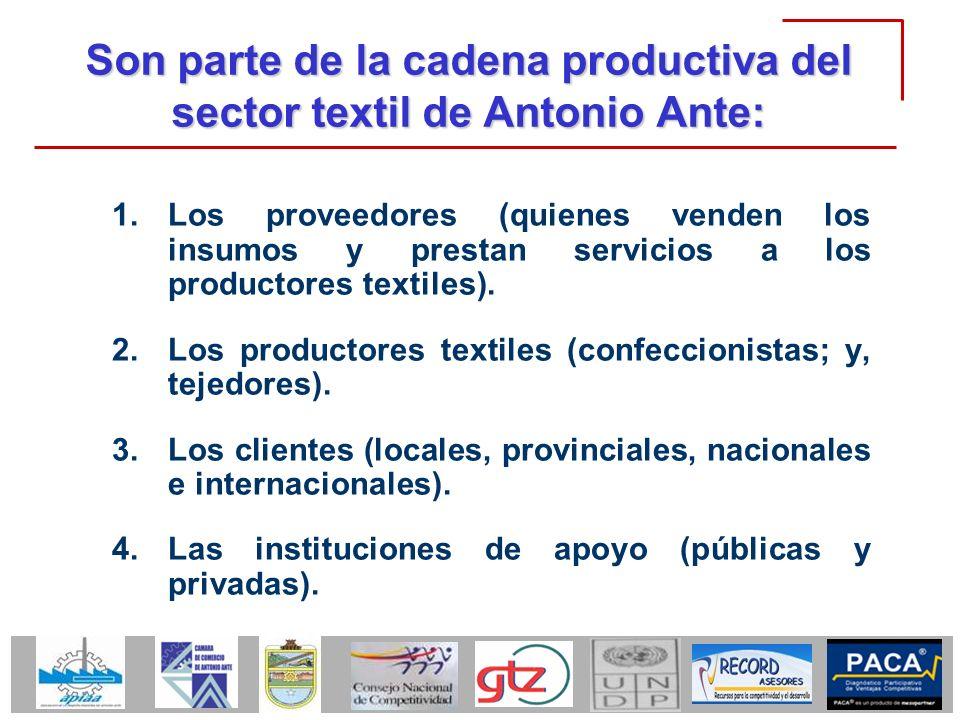 Son parte de la cadena productiva del sector textil de Antonio Ante: