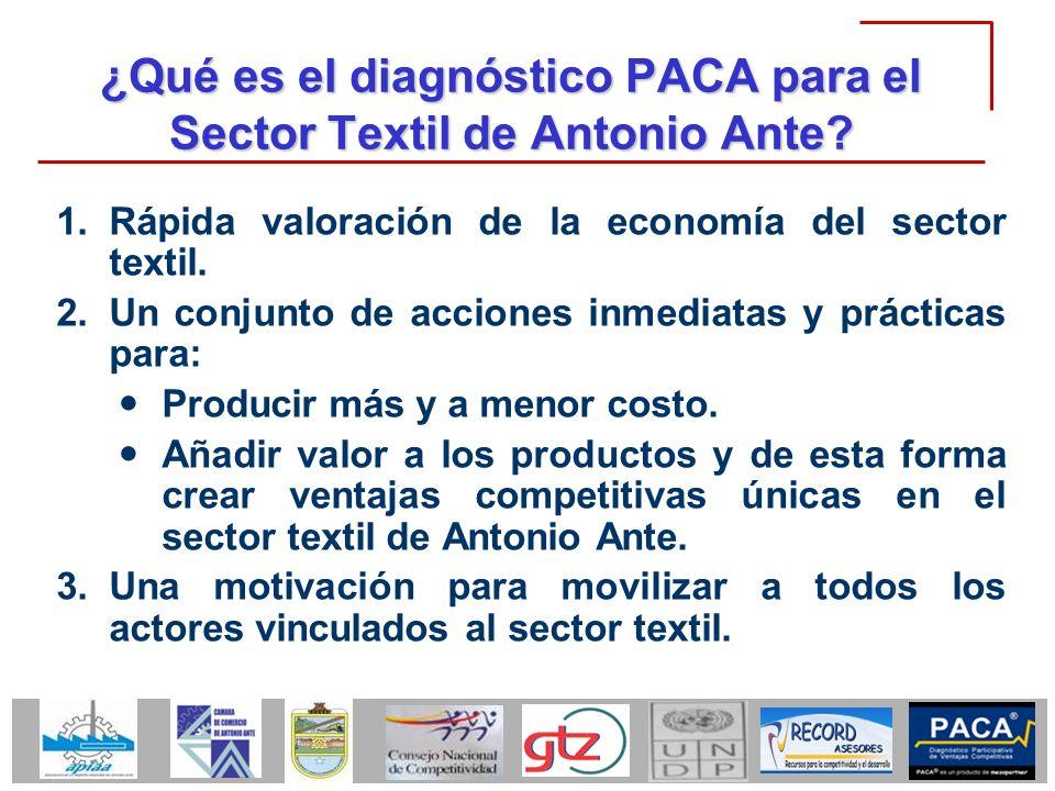 ¿Qué es el diagnóstico PACA para el Sector Textil de Antonio Ante
