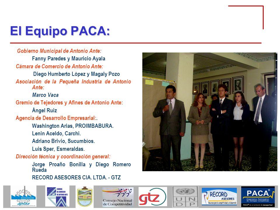 El Equipo PACA: Gobierno Municipal de Antonio Ante: