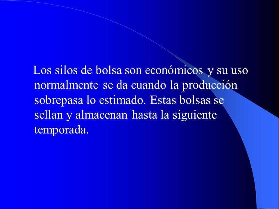 Los silos de bolsa son económicos y su uso normalmente se da cuando la producción sobrepasa lo estimado.