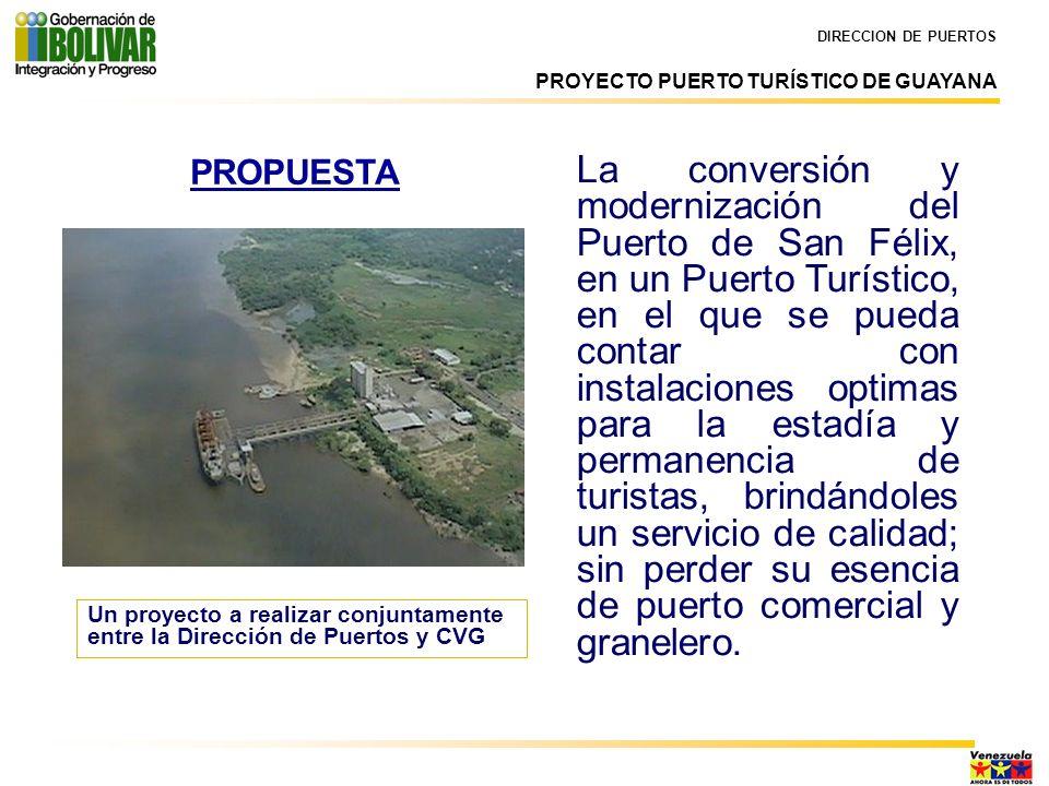 DIRECCION DE PUERTOS PROYECTO PUERTO TURÍSTICO DE GUAYANA.