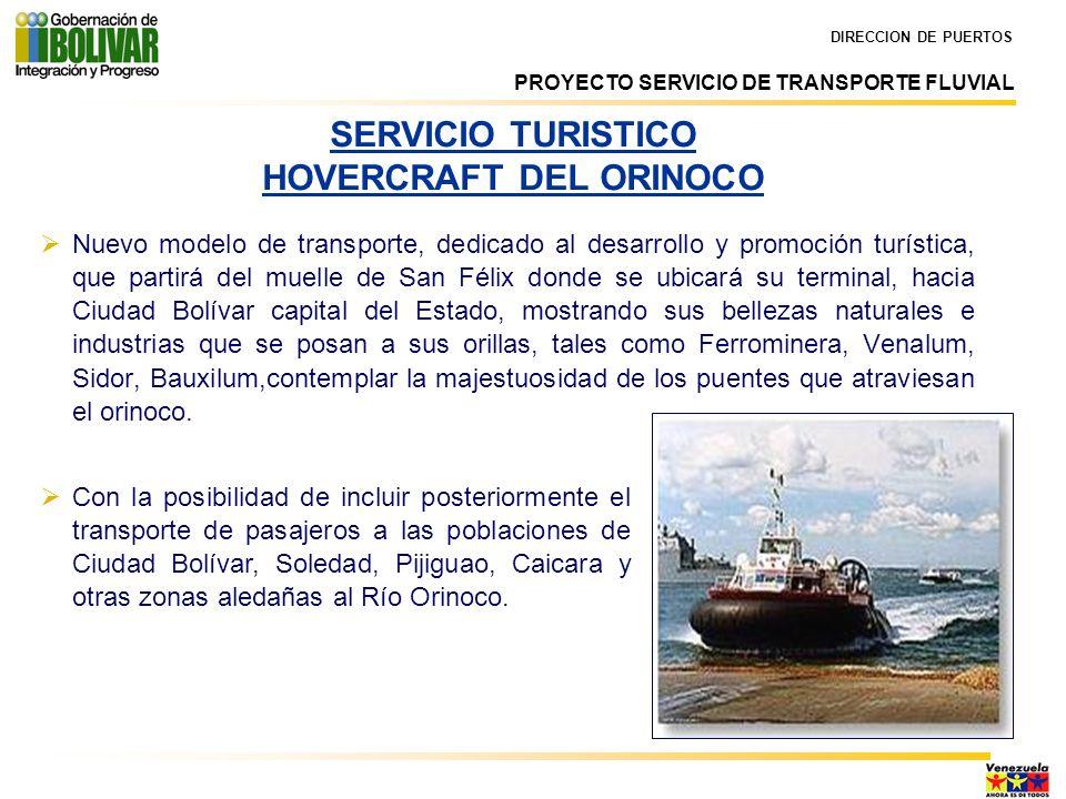 SERVICIO TURISTICO HOVERCRAFT DEL ORINOCO