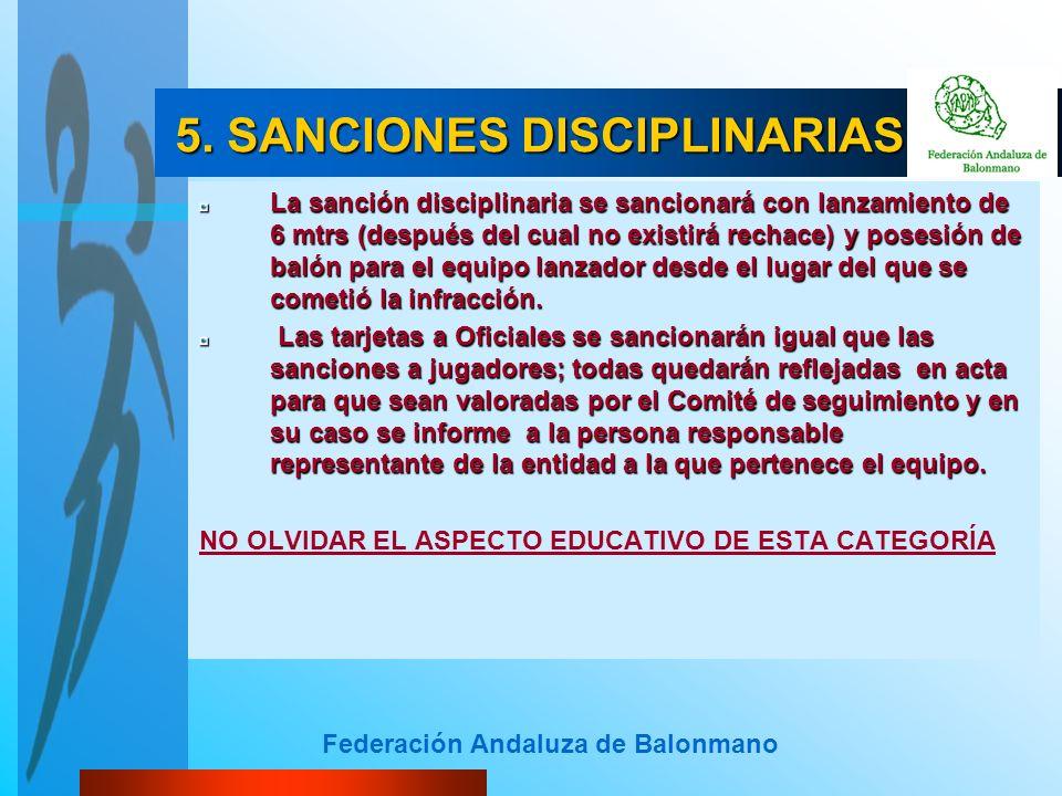 5. SANCIONES DISCIPLINARIAS