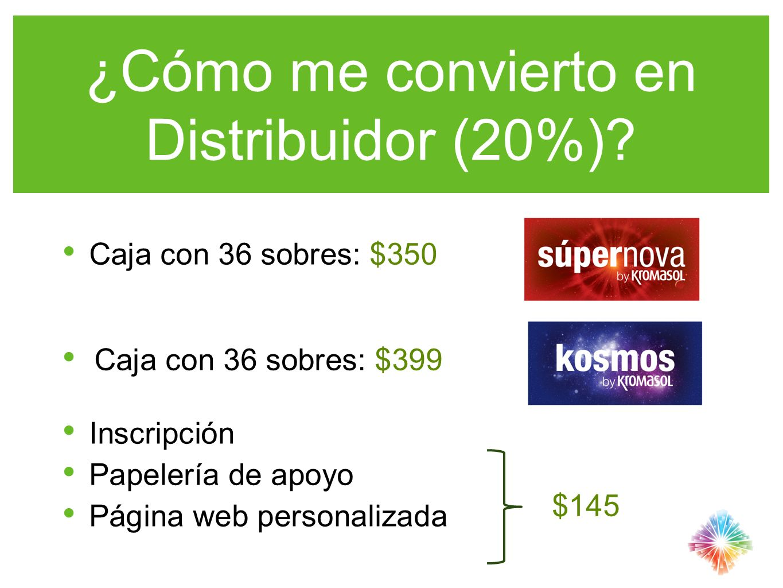 ¿Cómo me convierto en Distribuidor (20%)