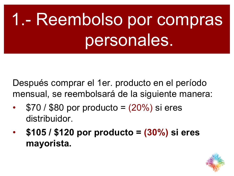 1.- Reembolso por compras personales.