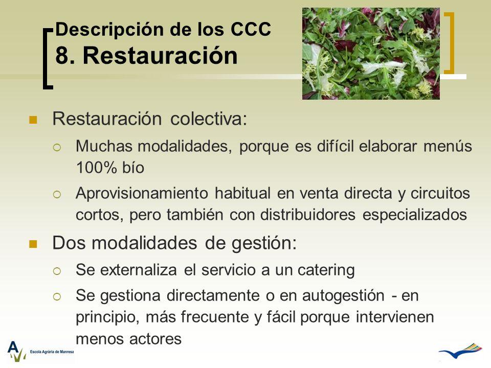 Descripción de los CCC 8. Restauración