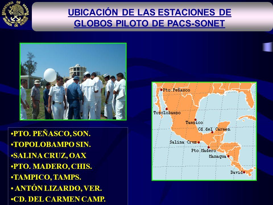 UBICACIÓN DE LAS ESTACIONES DE GLOBOS PILOTO DE PACS-SONET
