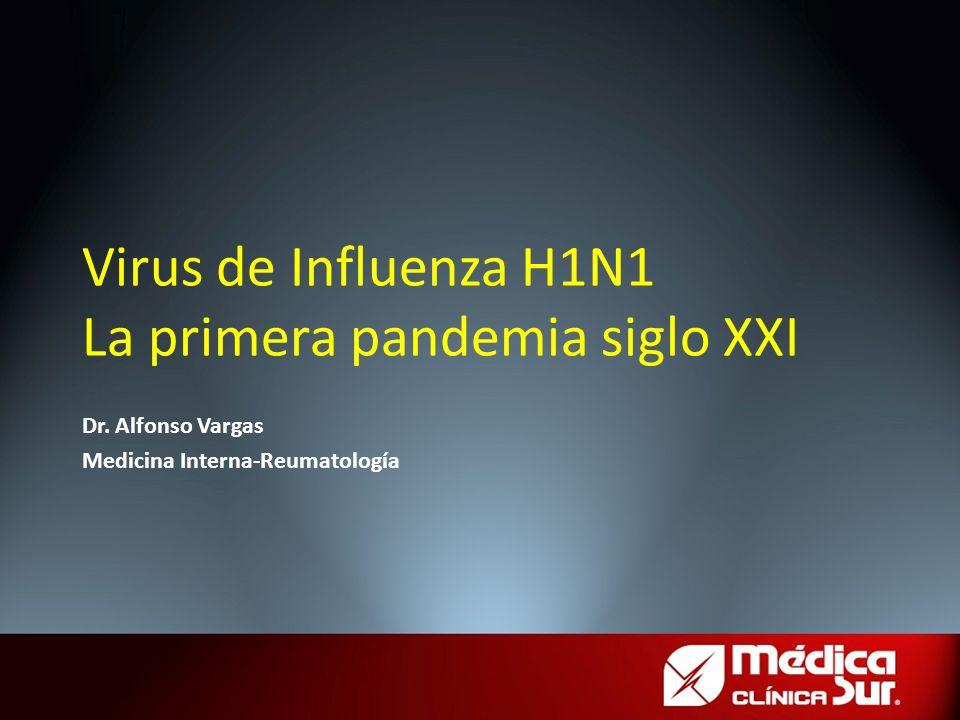 Virus de Influenza H1N1 La primera pandemia siglo XXI