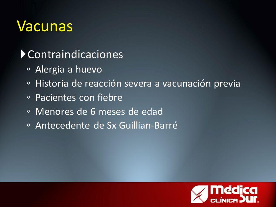 Vacunas Contraindicaciones Alergia a huevo