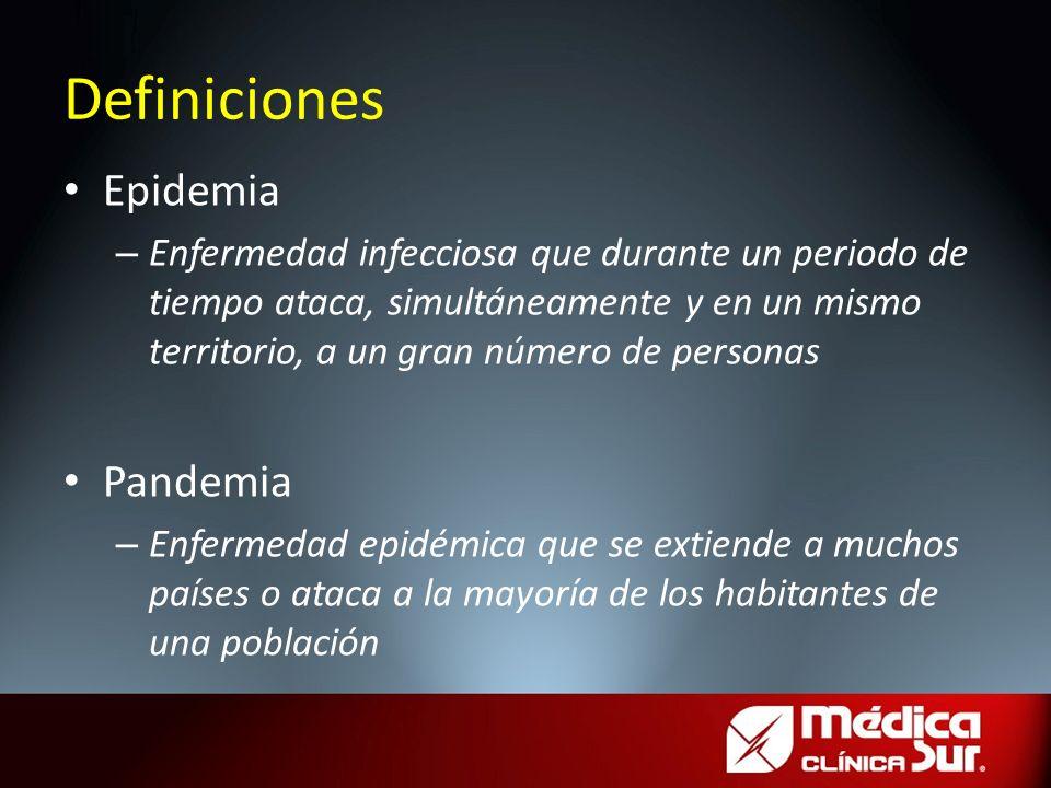 Definiciones Epidemia Pandemia