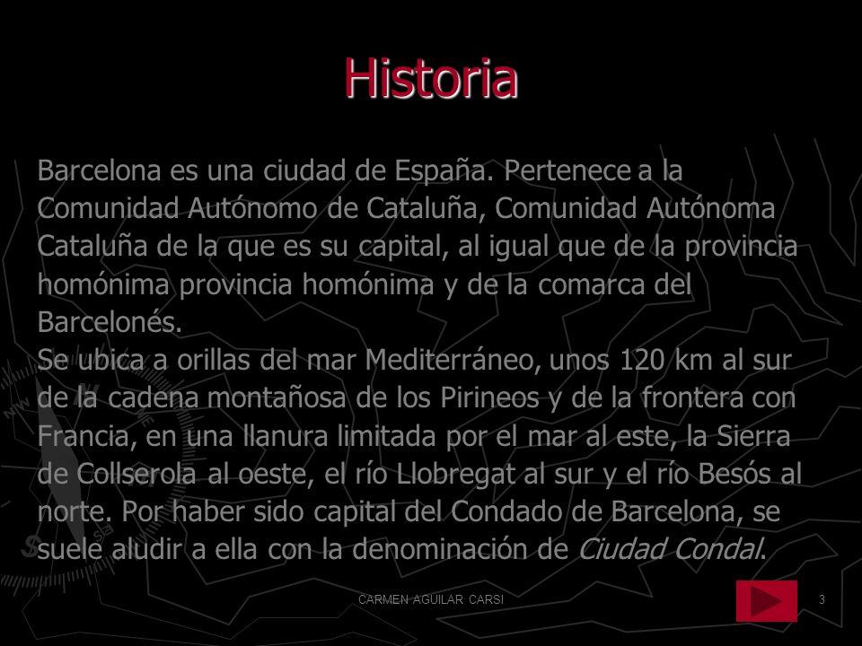 Historia Barcelona es una ciudad de España. Pertenece a la