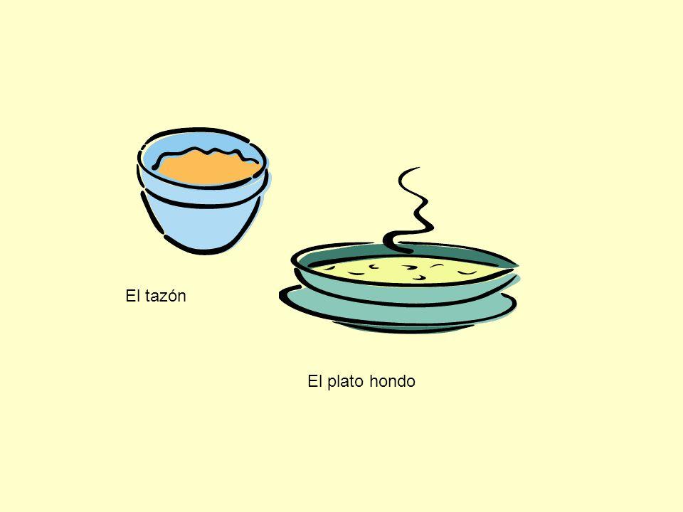 El tazón El plato hondo