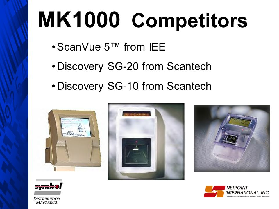 MK1000 Competitors ScanVue 5™ from IEE Discovery SG-20 from Scantech