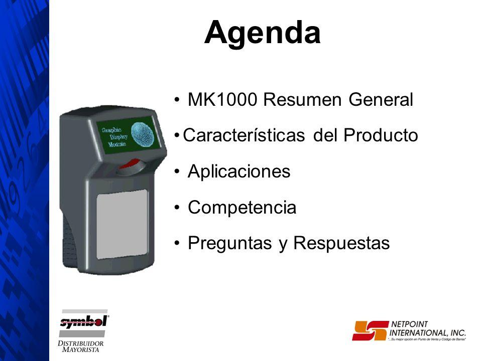 Agenda MK1000 Resumen General Características del Producto