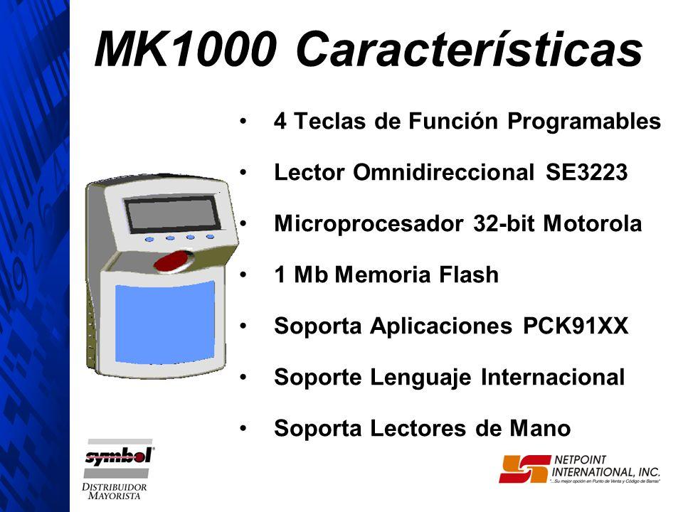 MK1000 Características 4 Teclas de Función Programables