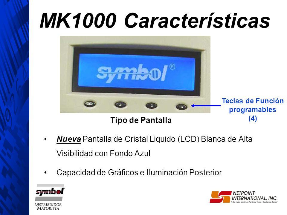 MK1000 Características Tipo de Pantalla