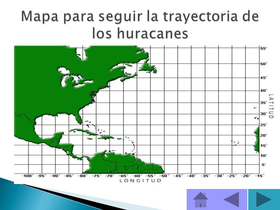 Mapa para seguir la trayectoria de los huracanes