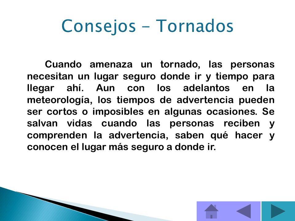 Consejos - Tornados
