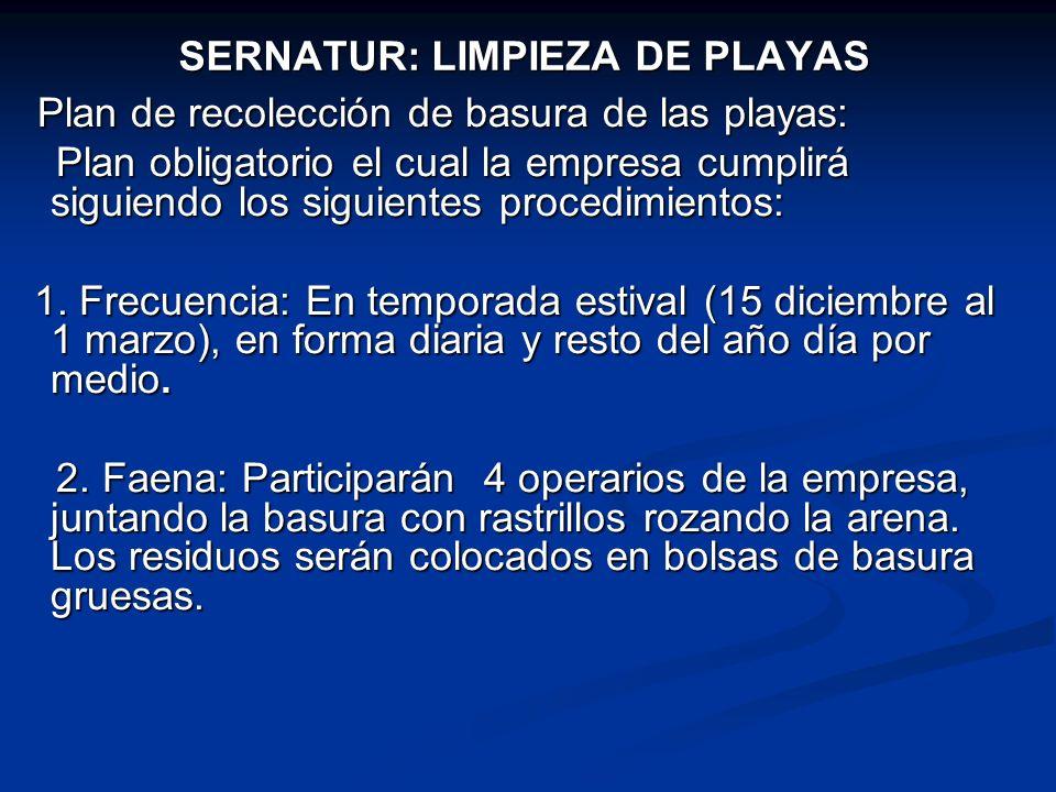 SERNATUR: LIMPIEZA DE PLAYAS