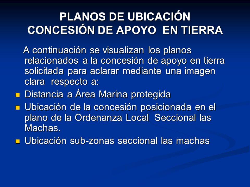 PLANOS DE UBICACIÓN CONCESIÓN DE APOYO EN TIERRA