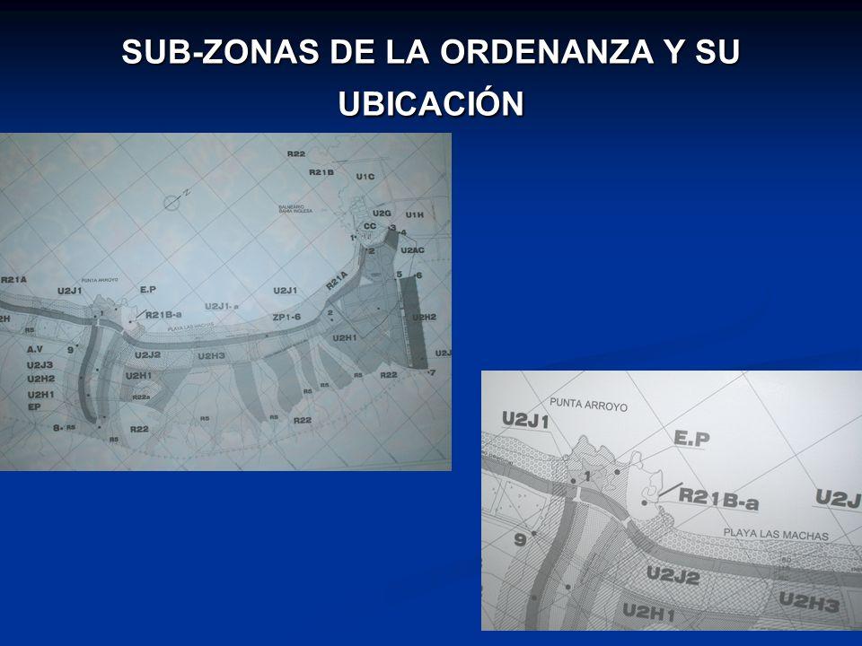 SUB-ZONAS DE LA ORDENANZA Y SU UBICACIÓN