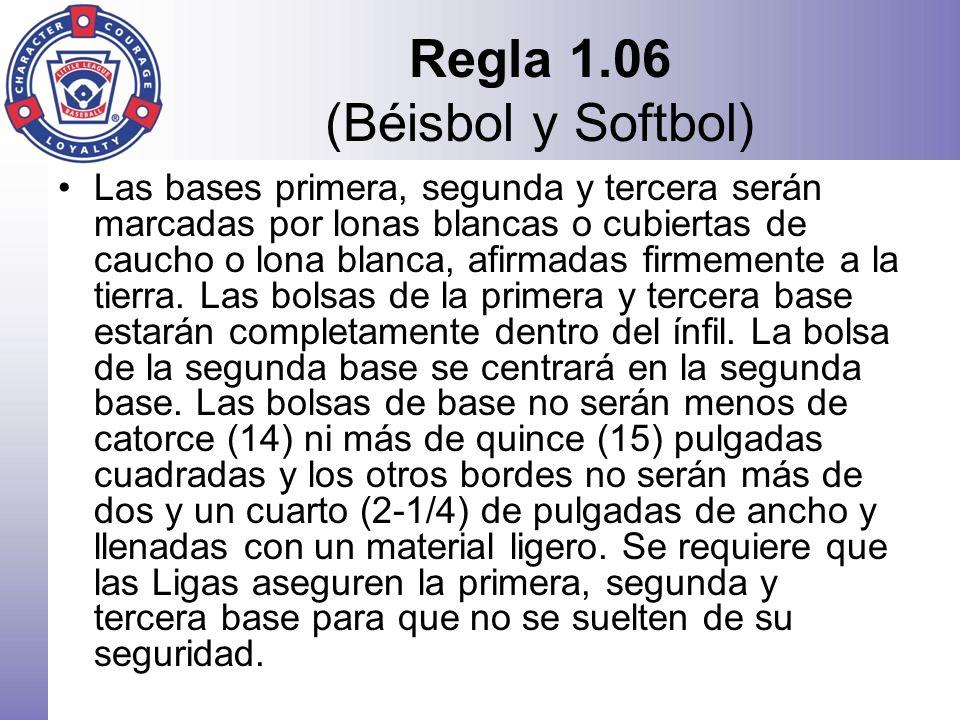 Regla 1.06 (Béisbol y Softbol)