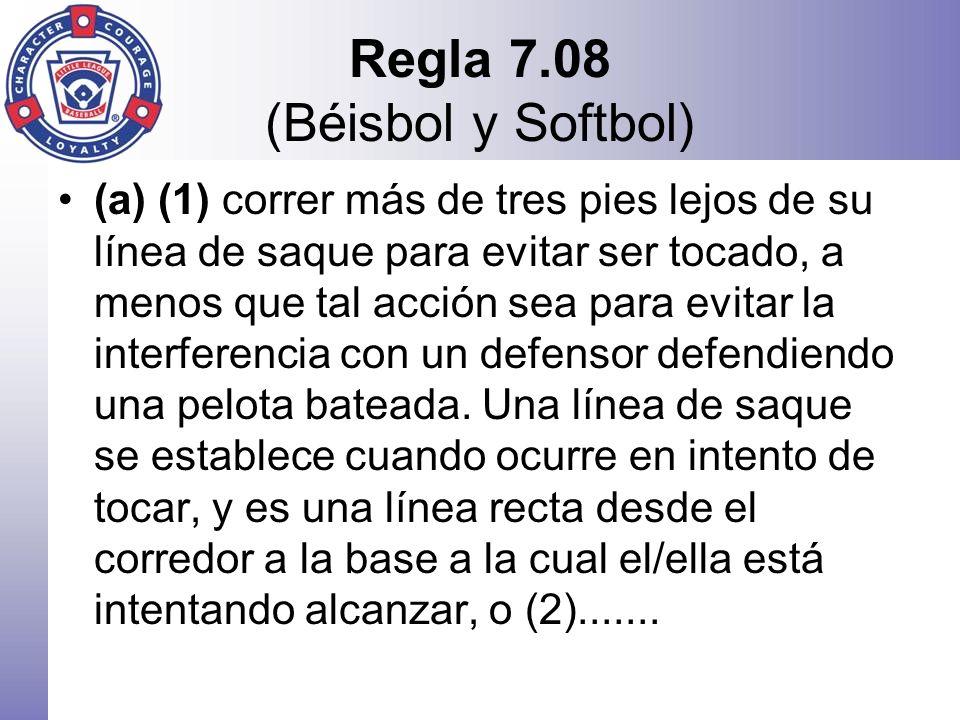Regla 7.08 (Béisbol y Softbol)