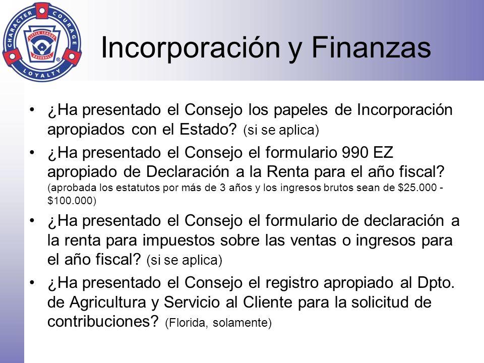 Incorporación y Finanzas