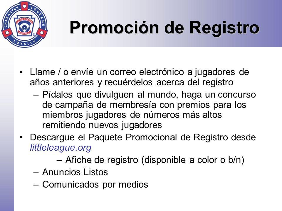 Afiche de registro (disponible a color o b/n)