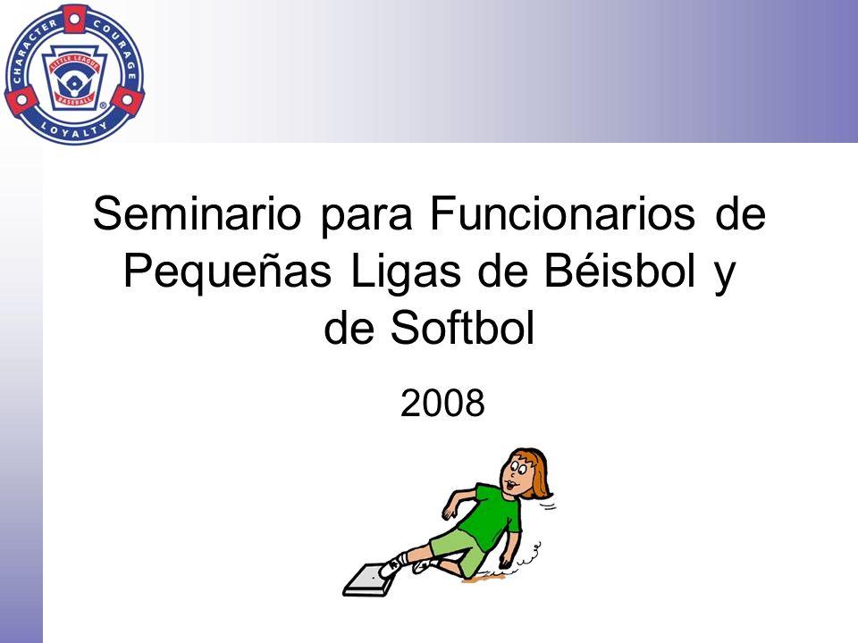 Seminario para Funcionarios de Pequeñas Ligas de Béisbol y de Softbol