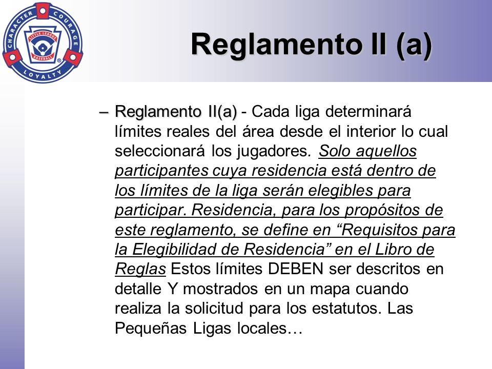 Reglamento II (a)