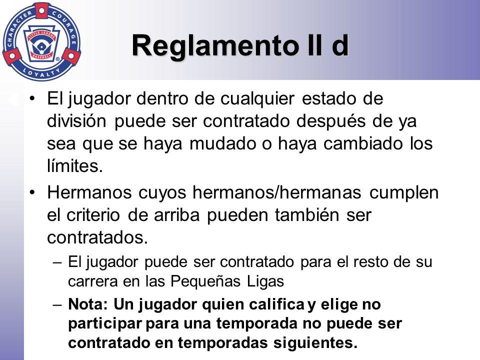 Reglamento II d