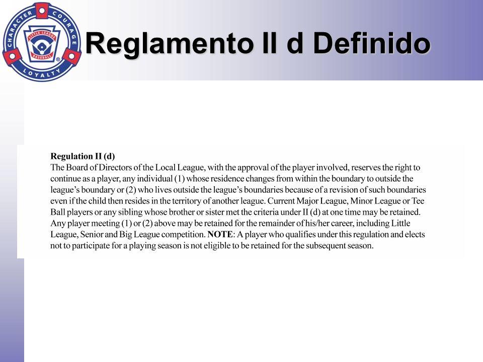 Reglamento II d Definido
