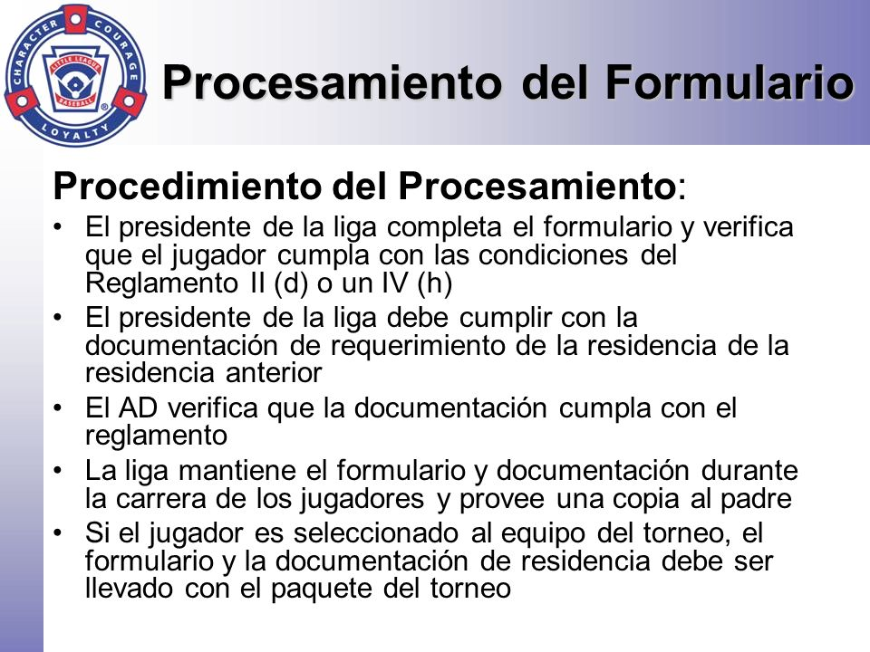 Procesamiento del Formulario