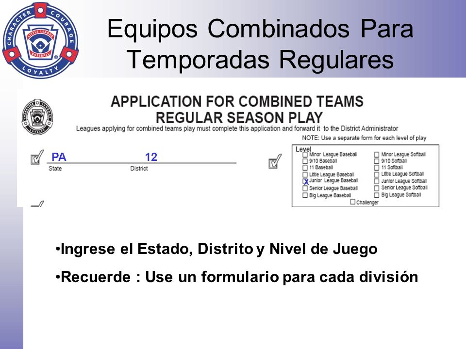 Equipos Combinados Para Temporadas Regulares
