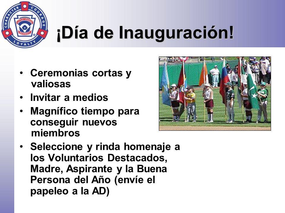 ¡Día de Inauguración! Ceremonias cortas y valiosas Invitar a medios