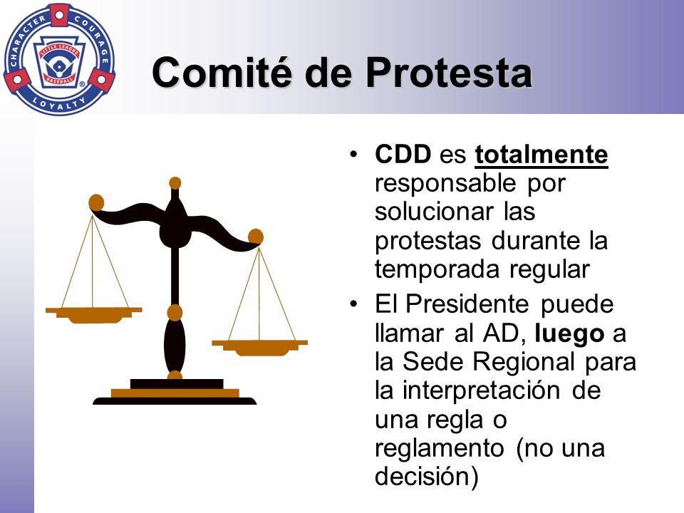 Comité de Protesta CDD es totalmente responsable por solucionar las protestas durante la temporada regular.