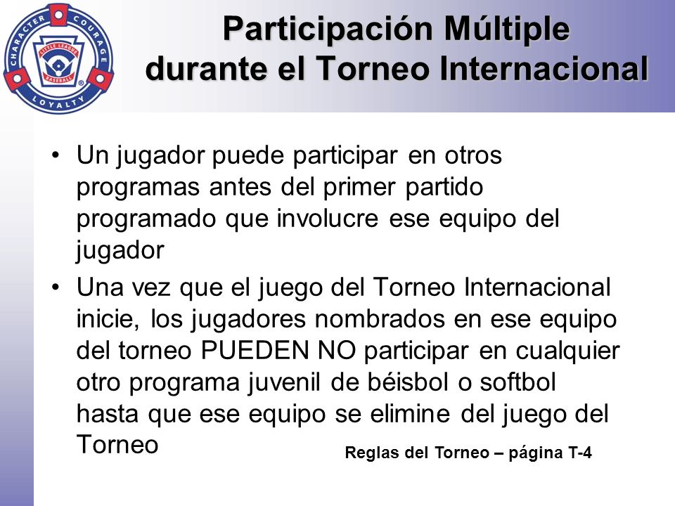 Participación Múltiple durante el Torneo Internacional