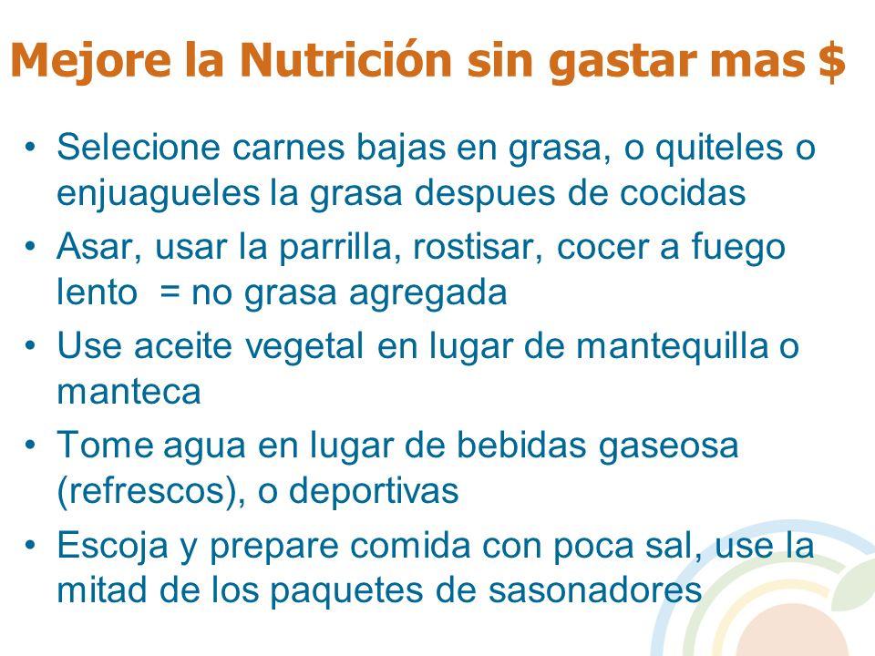 Mejore la Nutrición sin gastar mas $