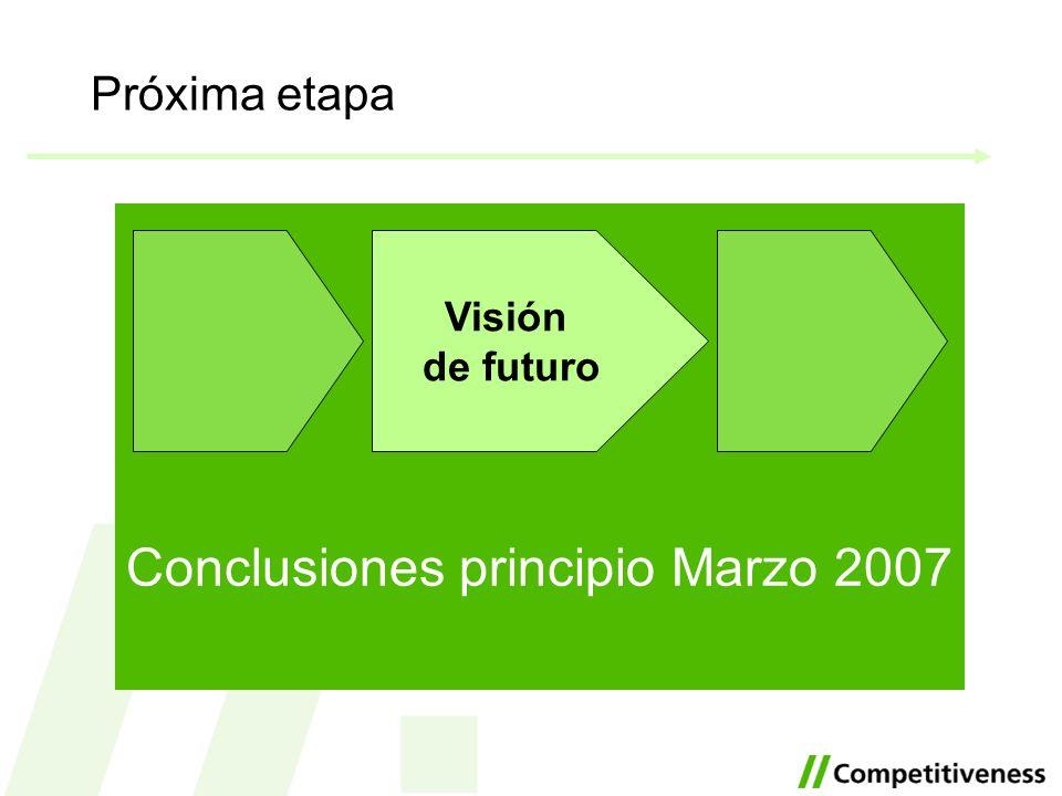 Conclusiones principio Marzo 2007