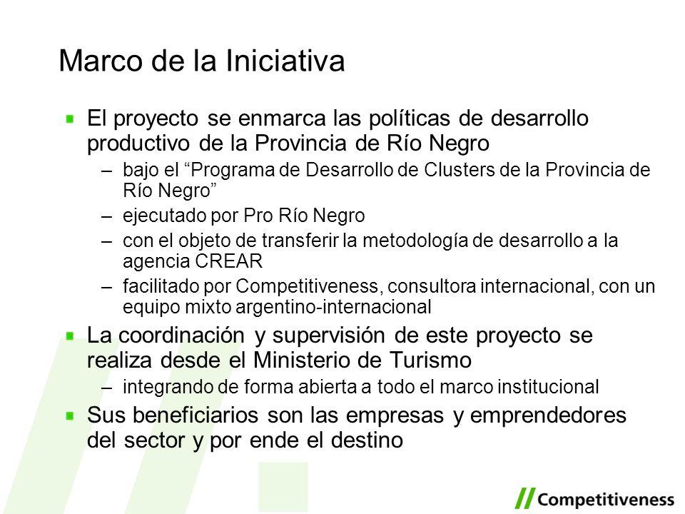 Marco de la Iniciativa El proyecto se enmarca las políticas de desarrollo productivo de la Provincia de Río Negro.