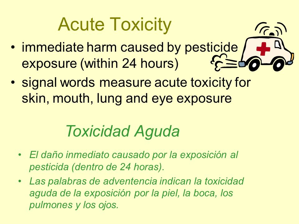Acute Toxicity Toxicidad Aguda