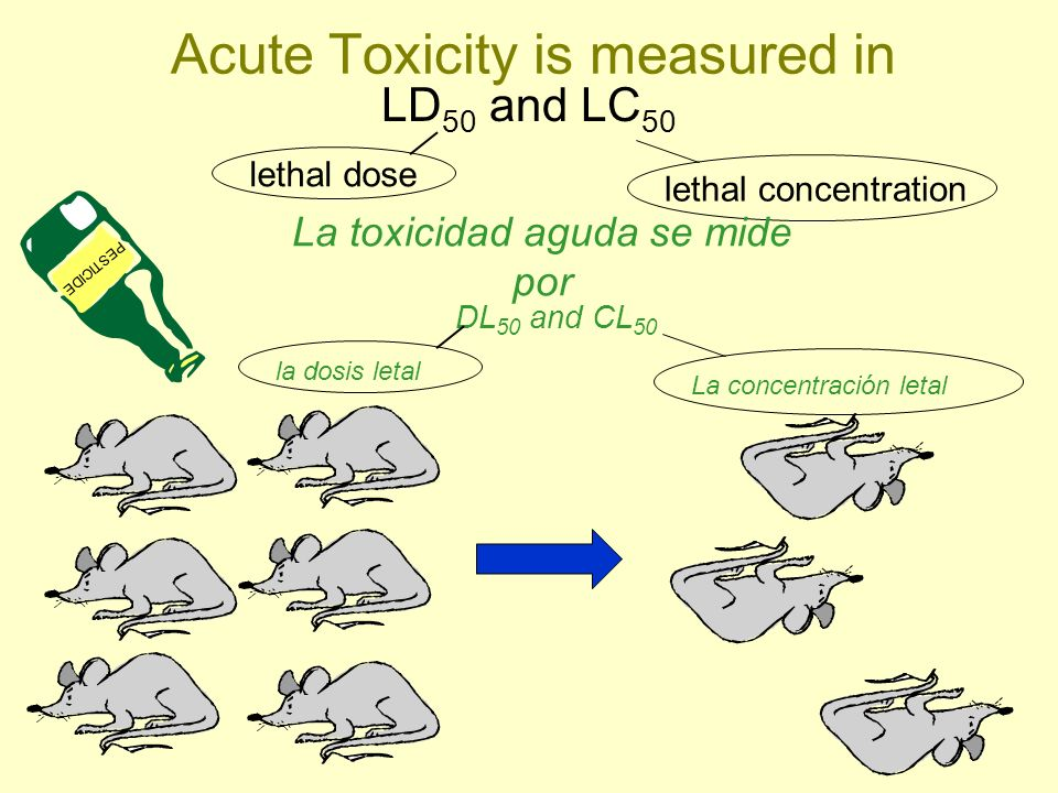 Acute Toxicity is measured in
