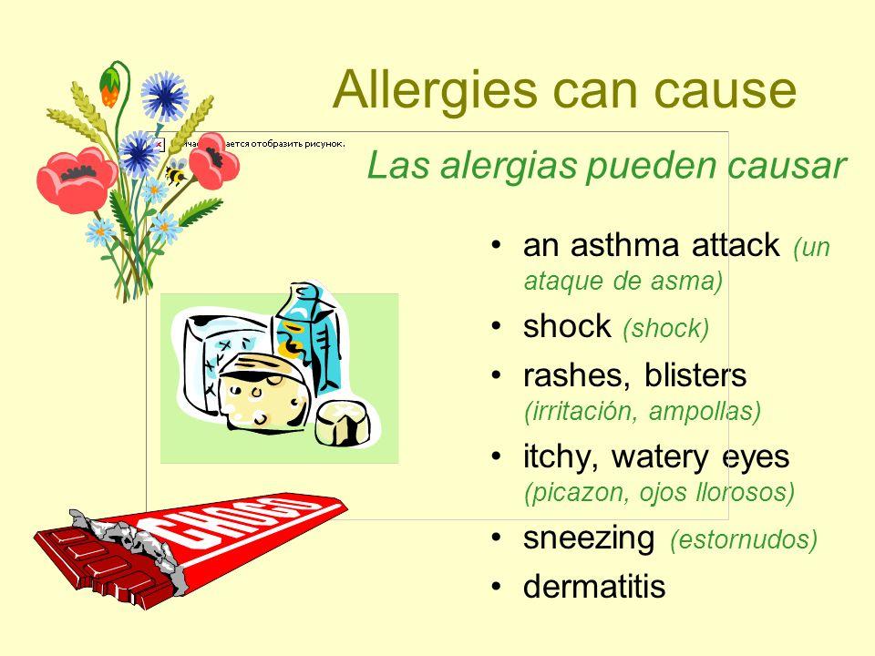 Las alergias pueden causar