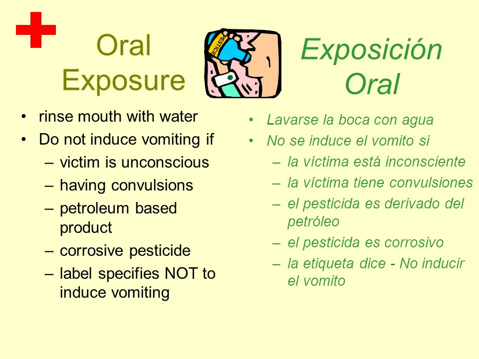 Oral Exposure Exposición Oral rinse mouth with water