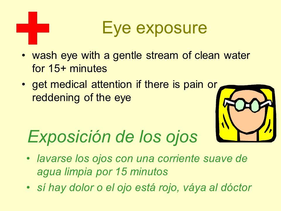 Eye exposure Exposición de los ojos