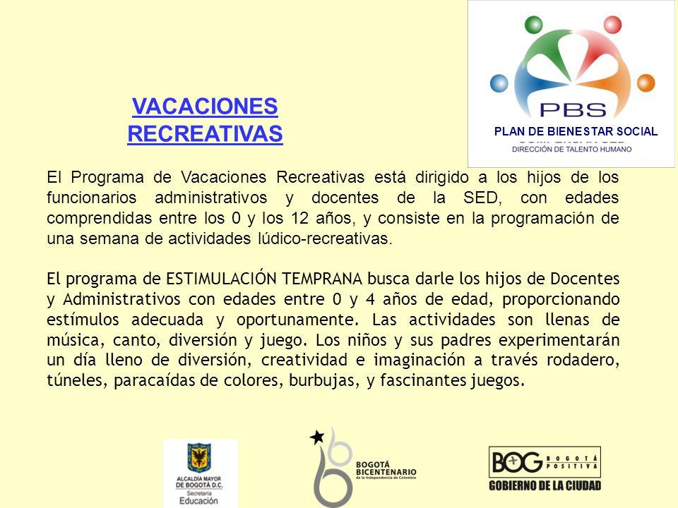 VACACIONES RECREATIVAS PLAN DE BIENESTAR SOCIAL