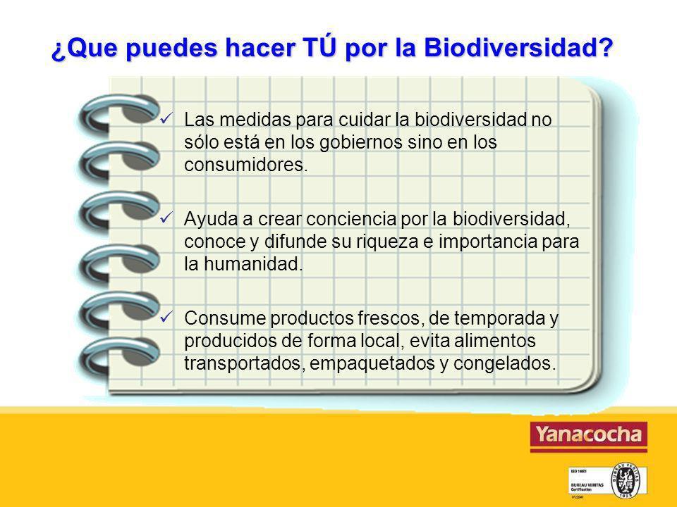 ¿Que puedes hacer TÚ por la Biodiversidad