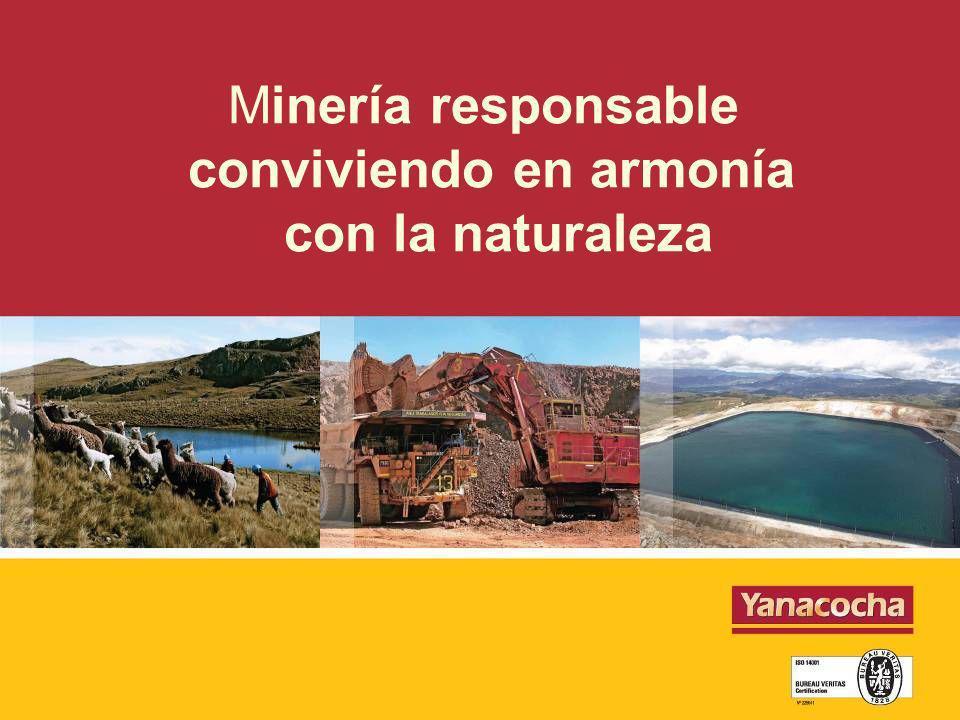 Minería responsable conviviendo en armonía con la naturaleza