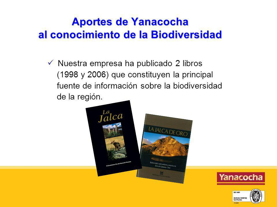 Aportes de Yanacocha al conocimiento de la Biodiversidad